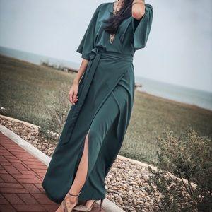 Leith by Nordstrom || Kimono Sleeve Wrap Maxi